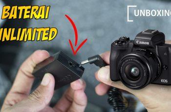 Unboxing Canon AC Adapter Charger Kit Untuk Canon EOS seri M M2 M10 M50 LP-E12