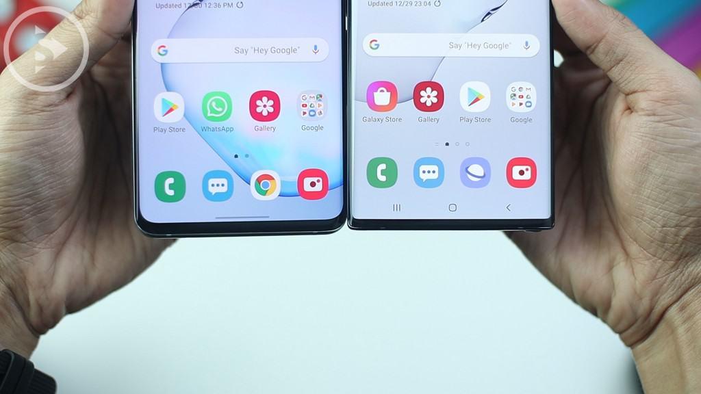 Bottom Bezel Note10 Vs S10 Plus - Unboxing Samsung Galaxy Note10 Warna Aura Black Indonesia di Tahun 2020 - Harga Barunya Sudah Turun