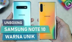 Unboxing HP Samsung Warna Indah di Tahun 2020 - Samsung Galaxy Note10 Indonesia Warna Aura Glow