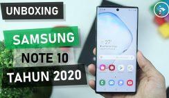 Unboxing Samsung Galaxy Note10 Warna Aura Black Indonesia di Tahun 2020 - Harga Barunya Sudah Turun