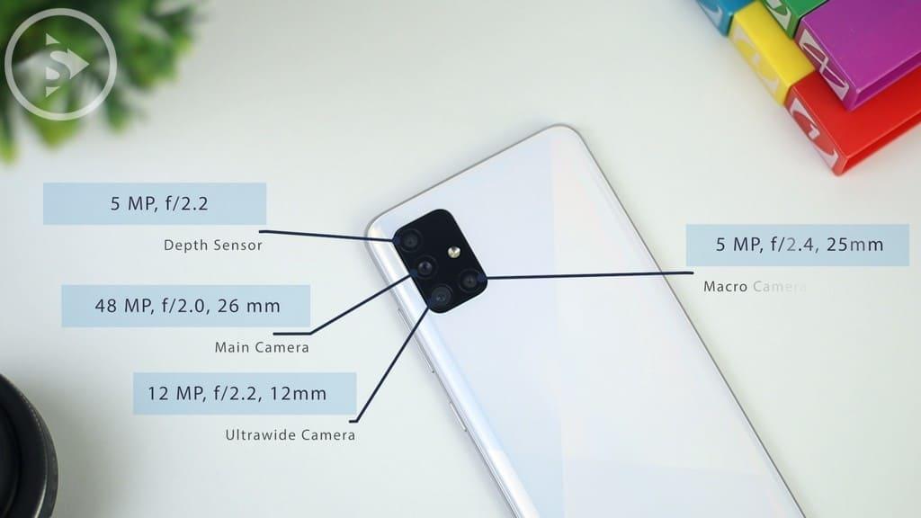 Spesifikasi Kamera Belakang Samsung A51 - Review Samsung Galaxy A51 Indonesia Warna Putih - Perbedaan A51 Vs A50s - Tes Kamera dan Gaming PUBG