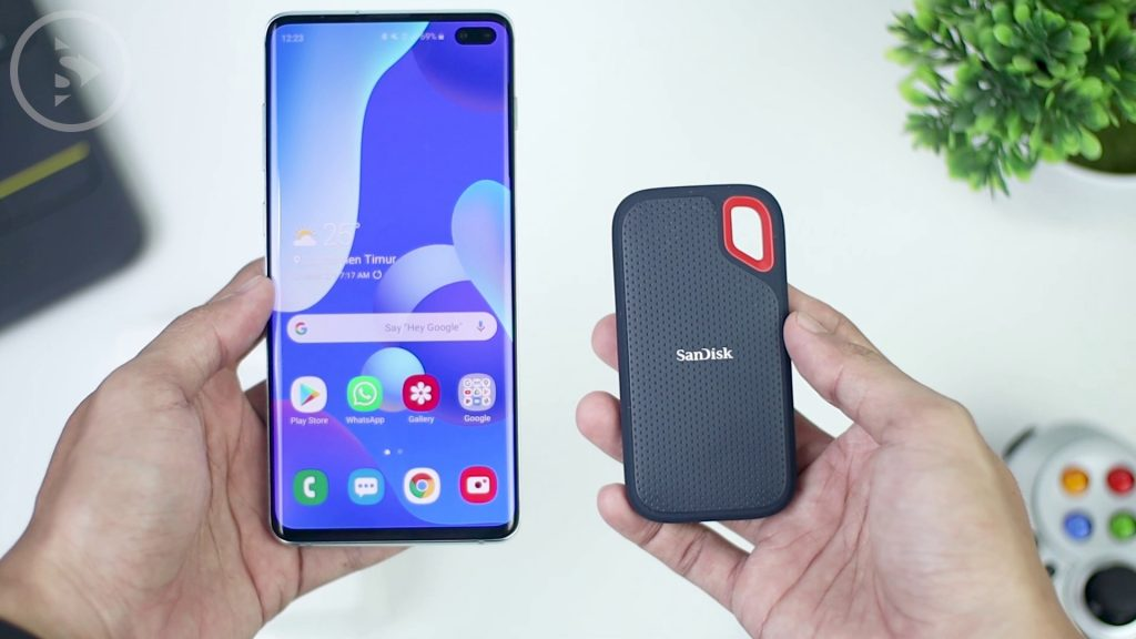 Unboxing dan Review SanDisk Extreme Portable SSD 500GB - SSD Eksternal Murah Terbaik 2020 Indonesia - Ukuran SSD Sandisk Extreme Portable Vs Samsung S10 Plus