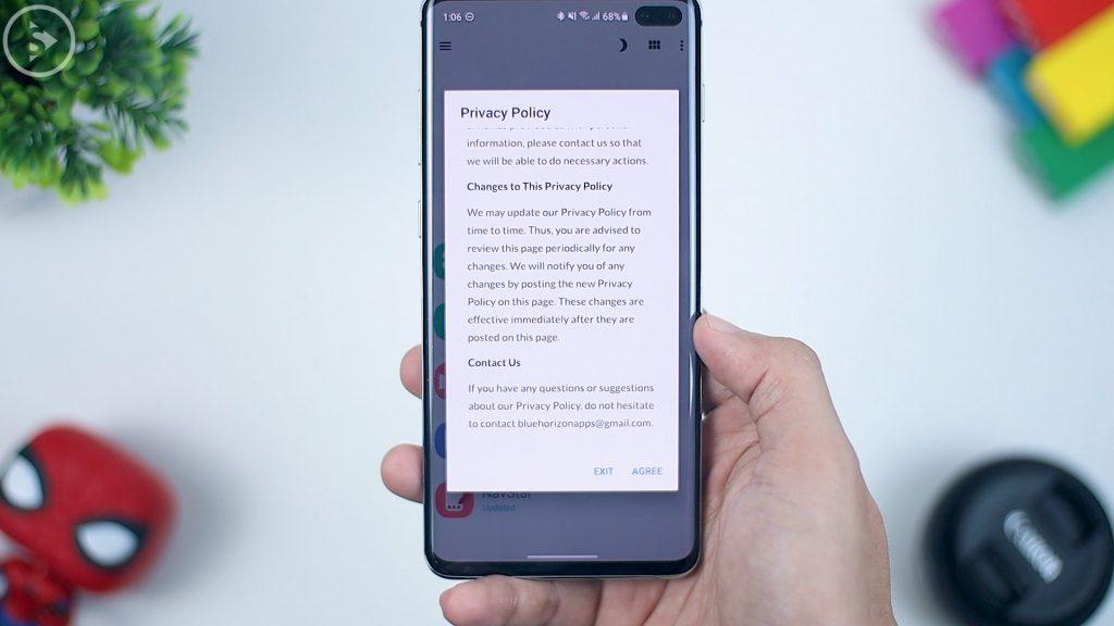 Cara Download dan Install Good Lock di HP Samsung OneUI di Indonesia - klik agree privacy policy