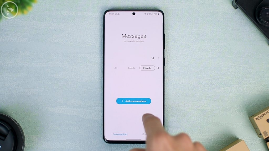 25 Fitur Terbaru di Update One UI 2.5 - kategori atas sms