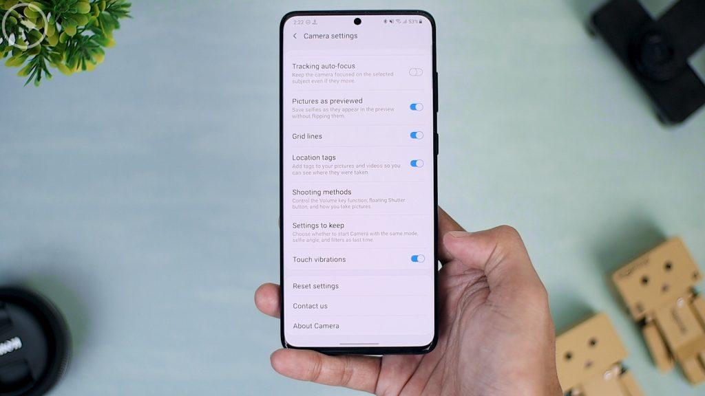 25 Fitur Terbaru di Update One UI 2.5 - setting vibrate di kamera