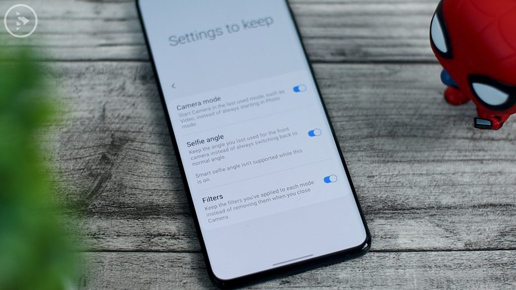 keep last camera mode setting selfie angle and filter HP samsung - One UI 2.5 Update