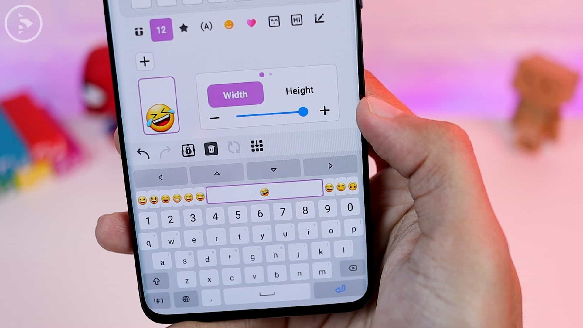 Tips Aplikasi Keys Cafe Terbaru Good Lock - Setting ukuran emoji dengan klik tanda plus