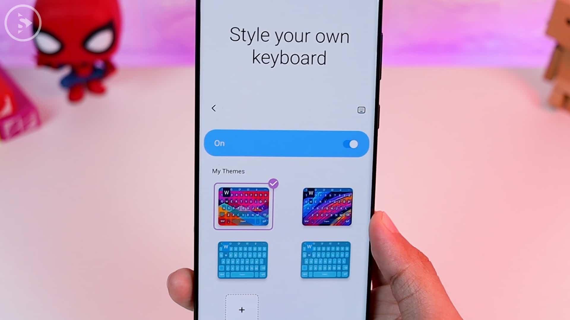 Tips Aplikasi Keys Cafe Terbaru Good Lock - tema yang sudah dikustomisasi di bagian atas