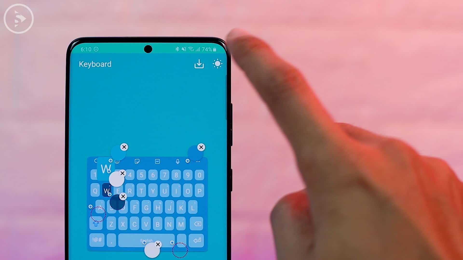 Cara Ganti Warna Keyboard di HP Samsung - Fitur Baru Good Lock - Icon Matahari