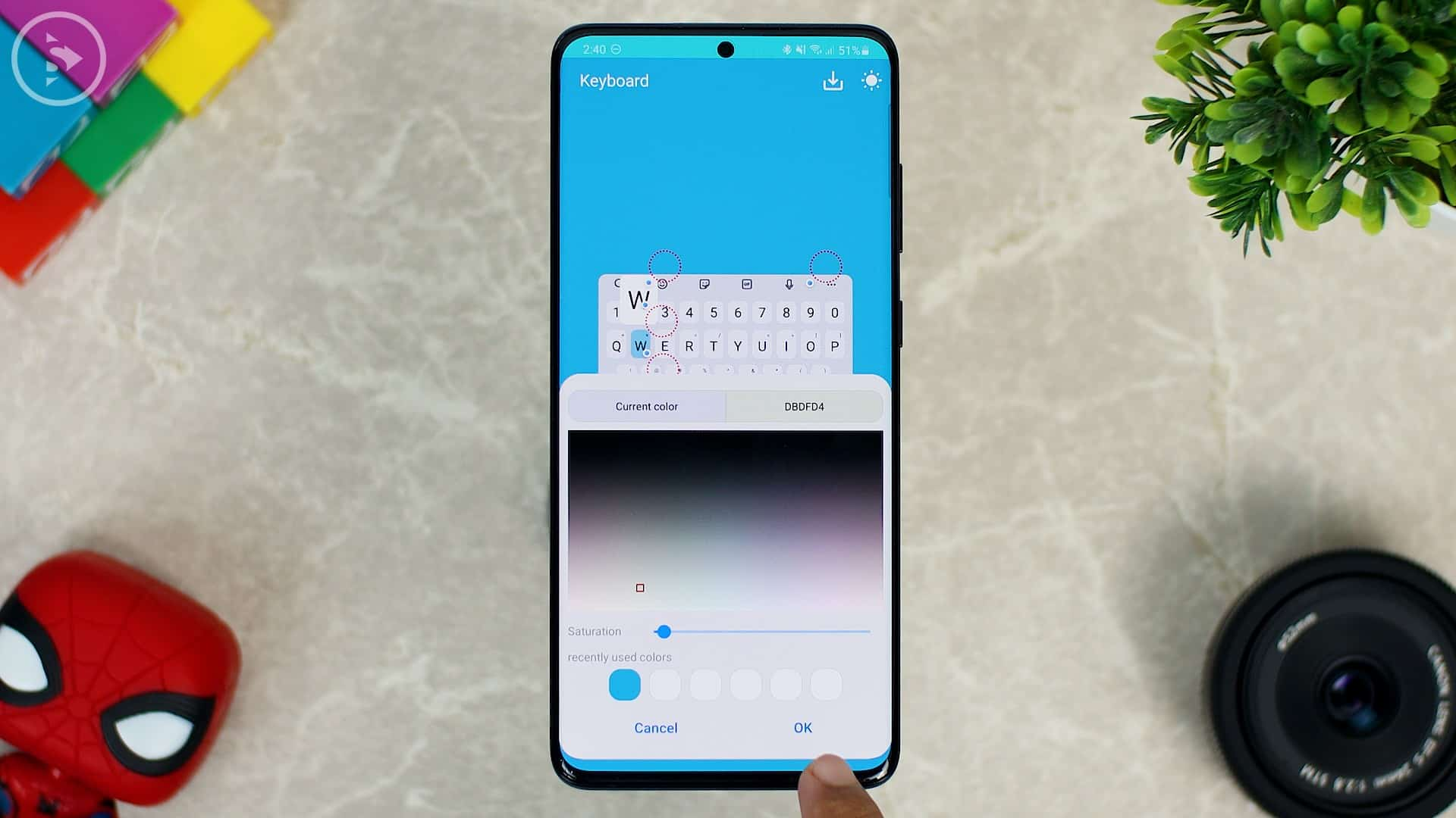 Cara Ganti Warna Keyboard di HP Samsung - Fitur Baru Good Lock - Klik OK setelah pilih warna
