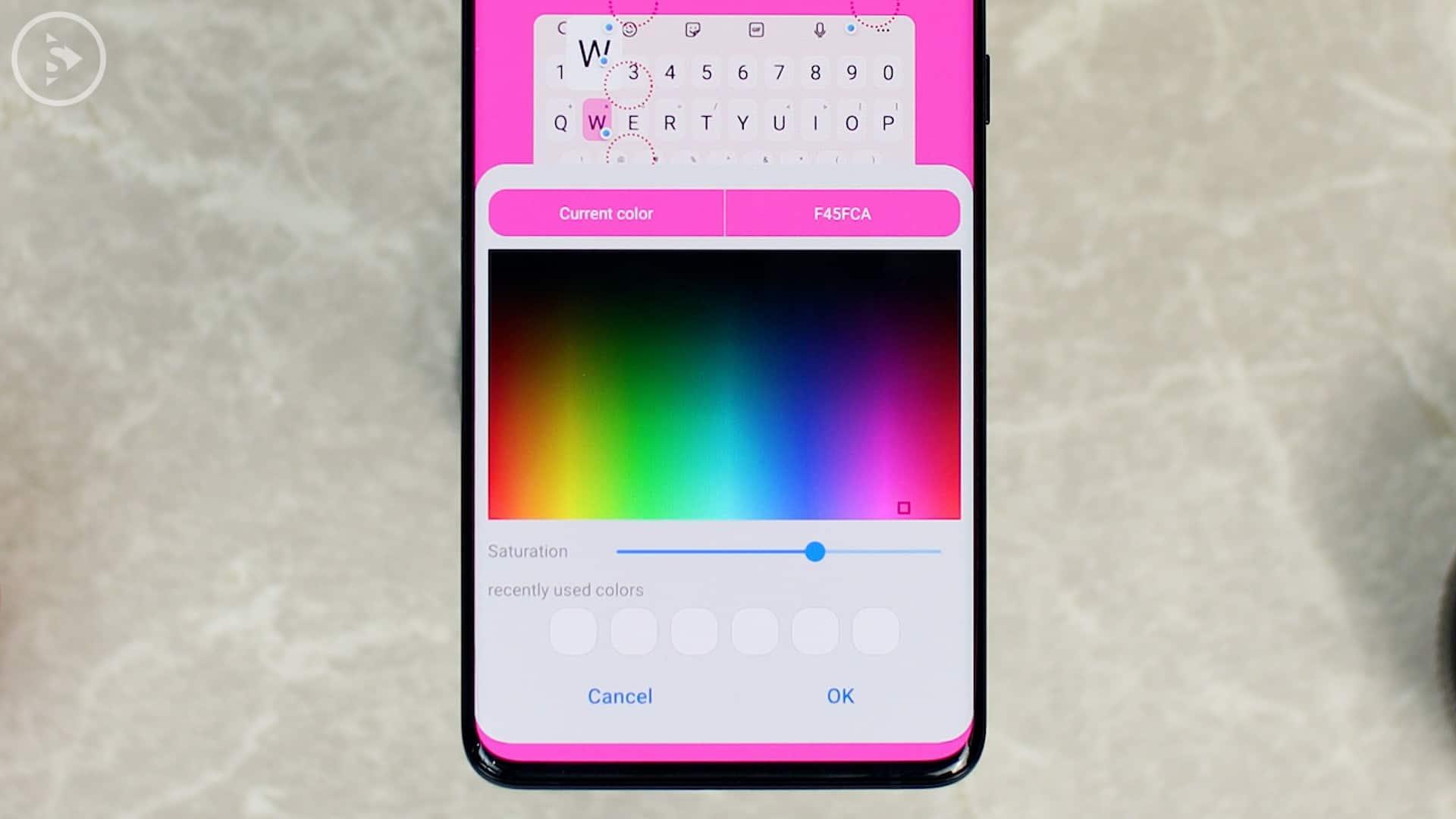 Cara Ganti Warna Keyboard di HP Samsung - Fitur Baru Good Lock - Pilih warna dan ubah saturasi