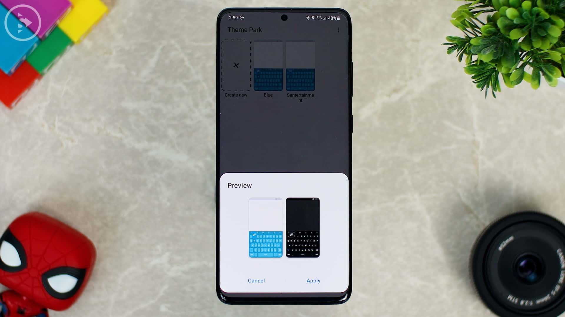 Cara Ganti Warna Keyboard di HP Samsung - Fitur Baru Good Lock - Preview light dan dark mode