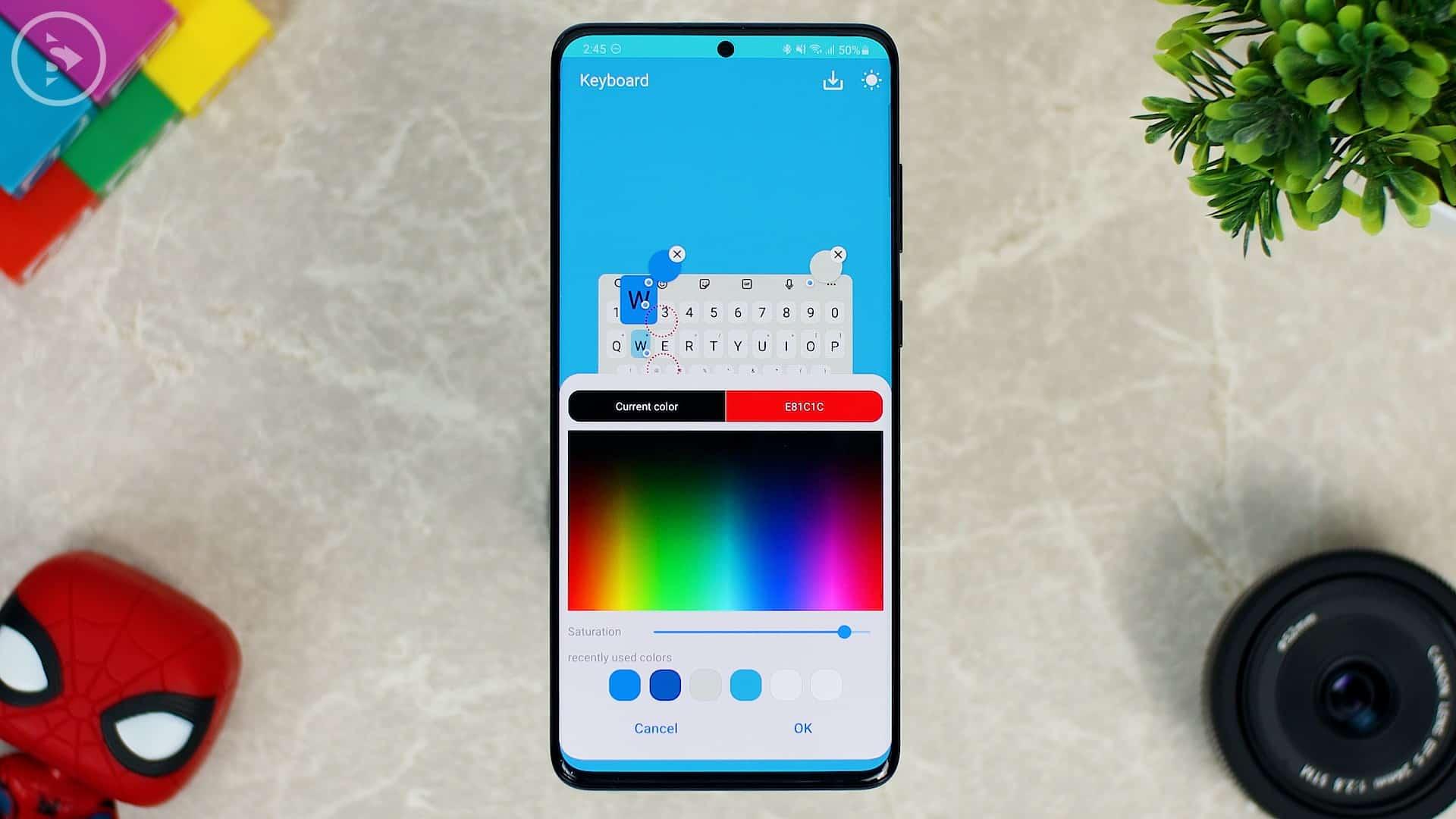 Cara Ganti Warna Keyboard di HP Samsung - Fitur Baru Good Lock - Tampilan Keyboard Saat Ditekan