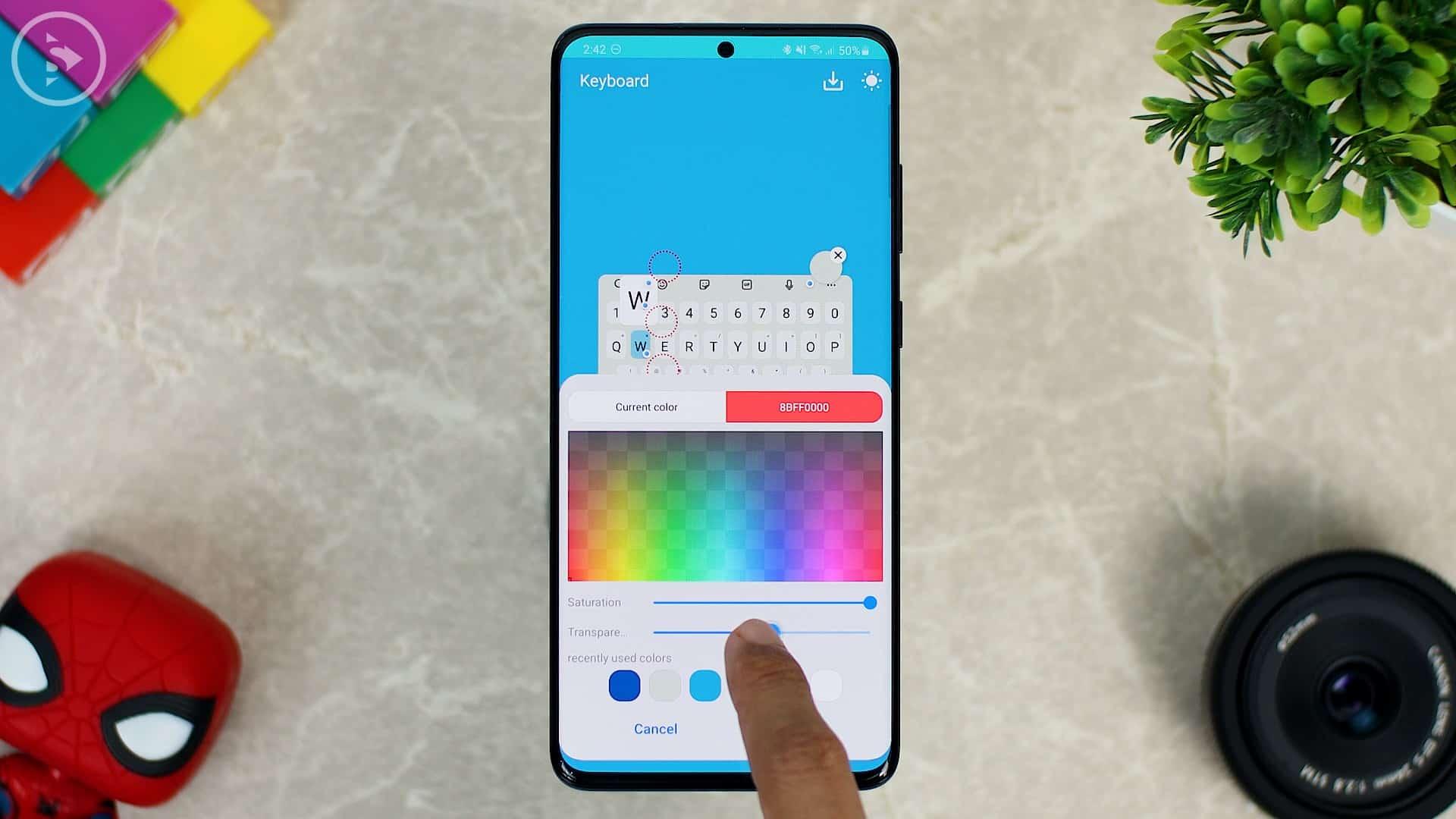 Cara Ganti Warna Keyboard di HP Samsung - Fitur Baru Good Lock - atur transparansi