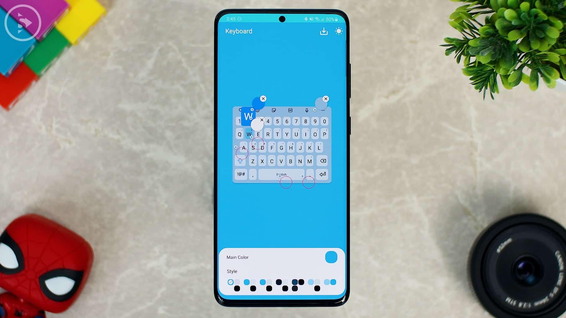 Cara Ganti Warna Keyboard di HP Samsung - Fitur Baru Good Lock - tampilan keyboard background agak gelap