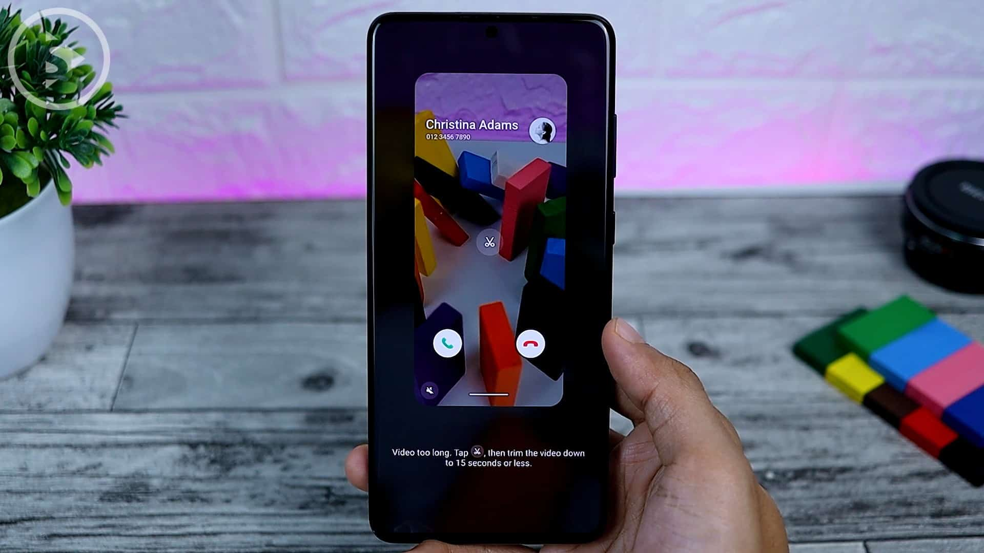 25 Fitur Baru di One UI 3.0 Dengan Android 11 - Call Background Option