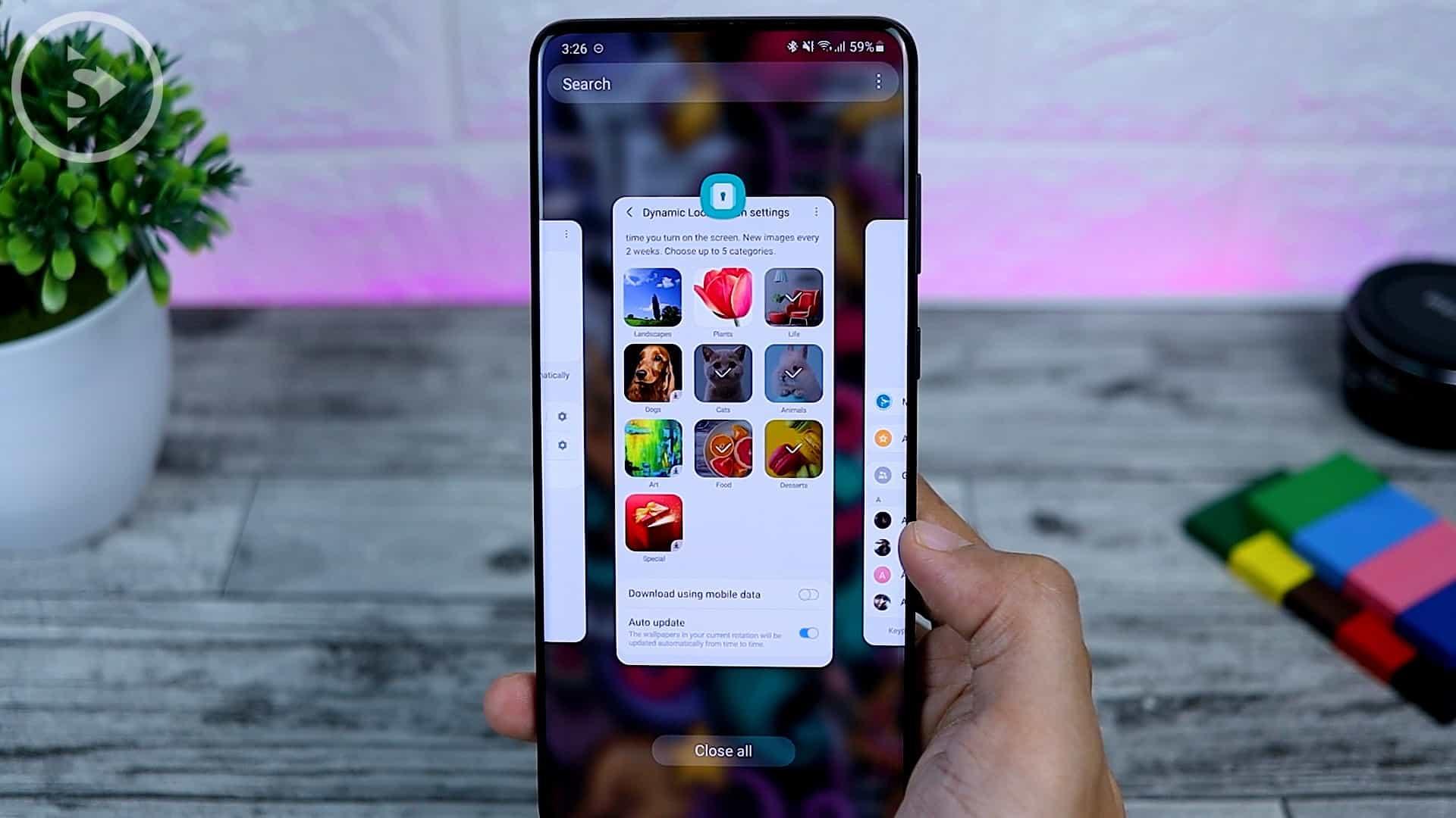 25 Fitur Baru di One UI 3.0 Dengan Android 11 - New Recent App Animation