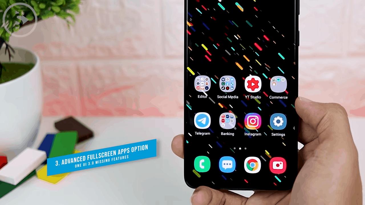 Advanced Fullscreen Apps Option