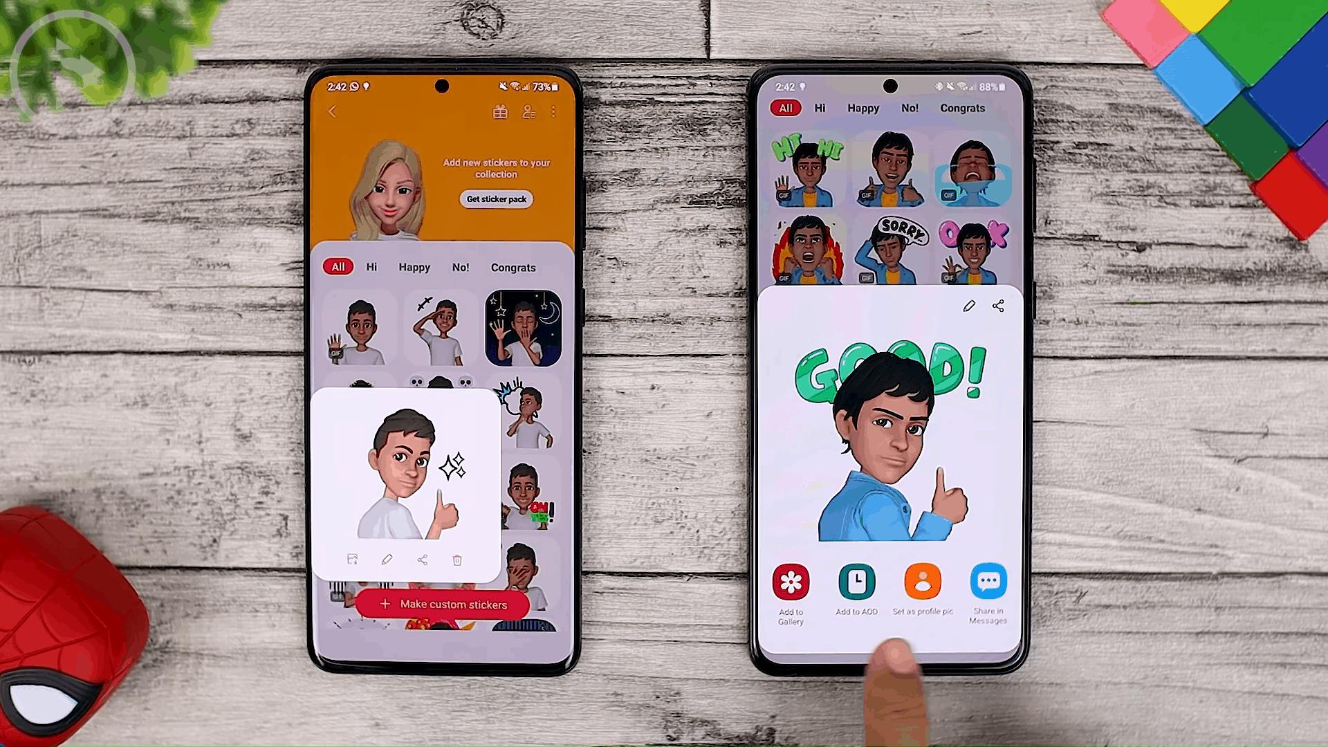 AR Emoji - Cek Fitur Terbaru One UI 3.1 di Samsung S21+ yang Belum Tersedia di One UI 3.0 Samsung S20+ (PART 1)