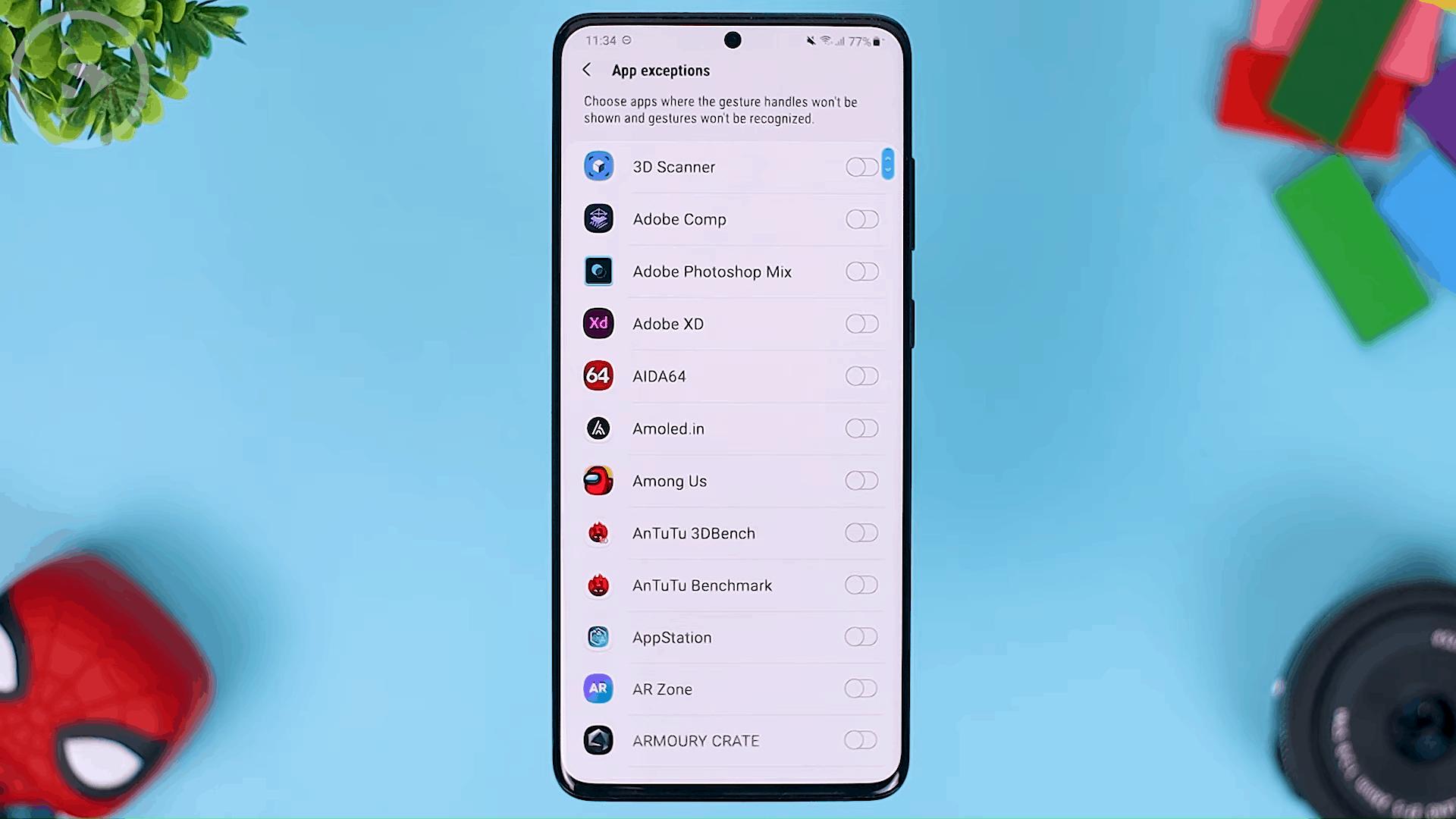 App Exceptions - Fitur Terbaru One Hand Operation+ di Update 2021 - Aplikasi WAJIB Untuk Pengguna Gestur Layar Penuh