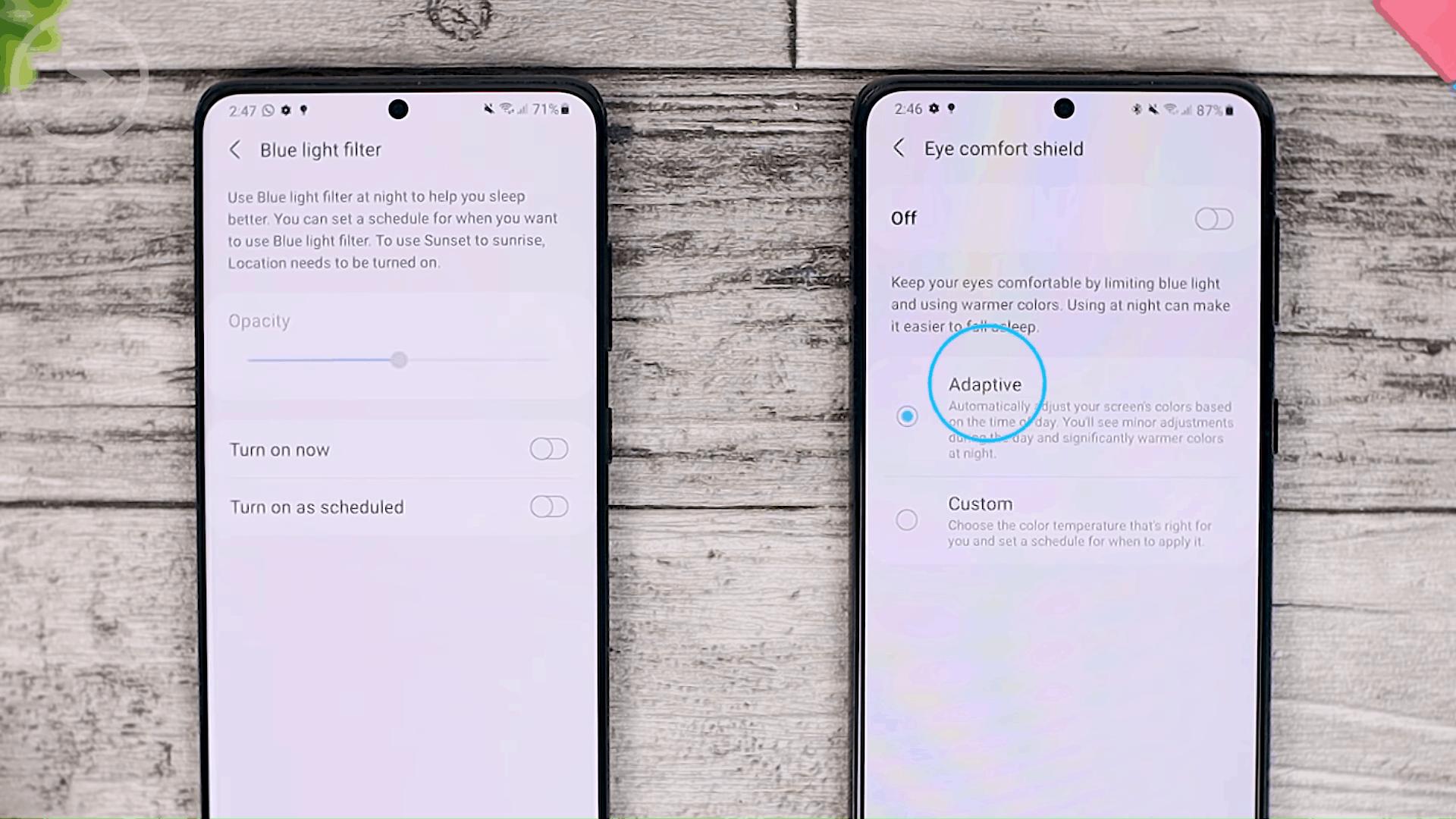 Blue Light Filter - Cek Fitur Terbaru One UI 3.1 di Samsung S21+ yang Belum Tersedia di One UI 3.0 Samsung S20+ (PART 1))