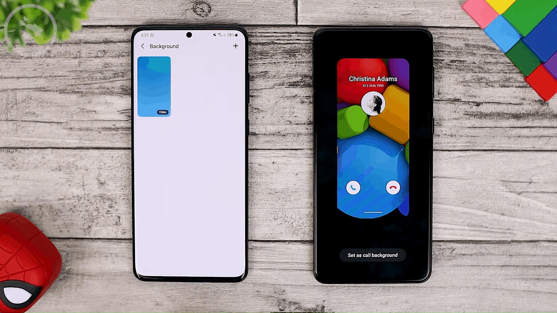 Call Background - Cek Fitur Terbaru One UI 3.1 di Samsung S21+ yang Belum Tersedia di One UI 3.0 Samsung S20+ (PART 1)