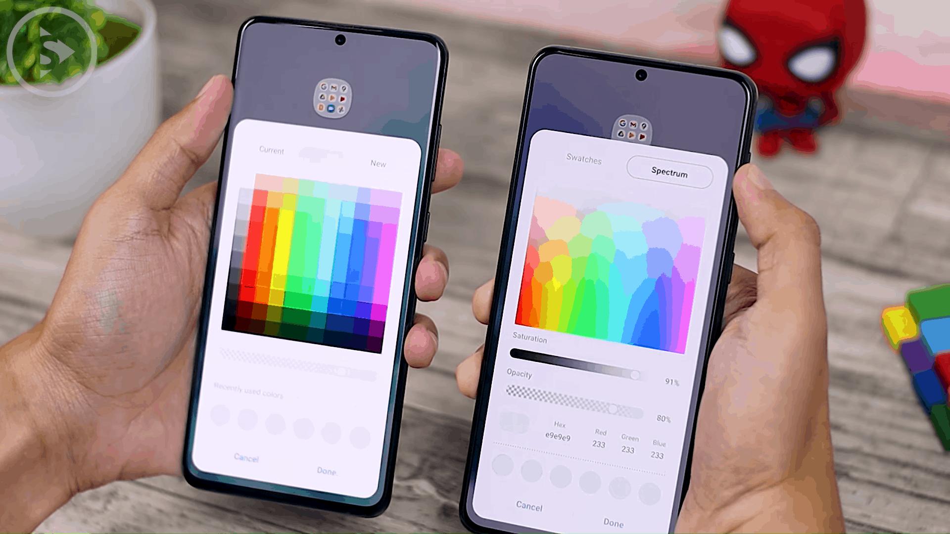 Folder Color - Cek Fitur Terbaru One UI 3.1 di Samsung S21+ yang Belum Tersedia di One UI 3.0 Samsung S20+ (PART 2)