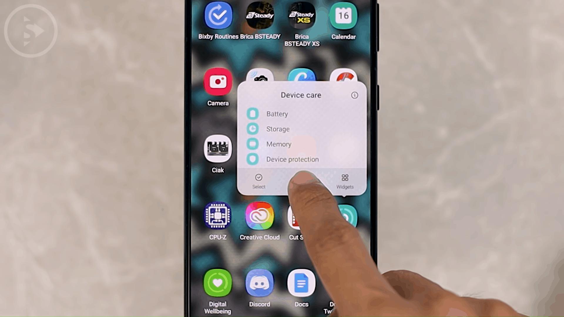 Add Device Care, Digital Wellbeing, and Bixby Routine Shortcuts on Homescreen - 8 Fitur Terbaru dan KEREN HP Samsung di One UI 3.0 dan One UI 3.1