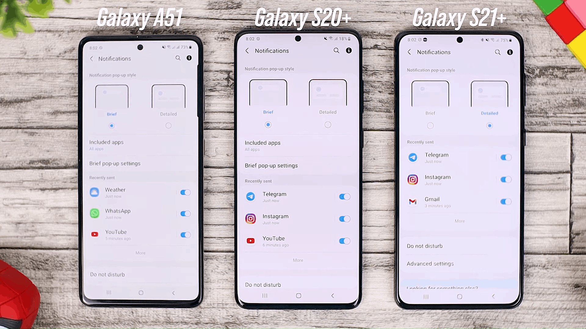 Bubble Notification & News Smart Pop-up View - Fitur One UI 3.0 di Galaxy A51 dan Perbandingannya dengan Galaxy S20+ dan One UI 3.1 di Galaxy S21+