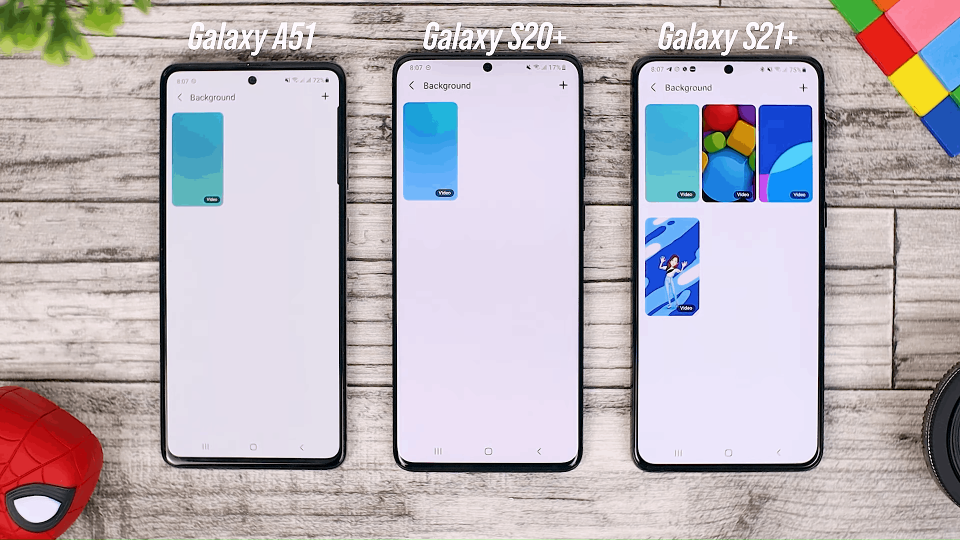 Call Background Option - Fitur One UI 3.0 di Galaxy A51 dan Perbandingannya dengan Galaxy S20+ dan One UI 3.1 di Galaxy S21+