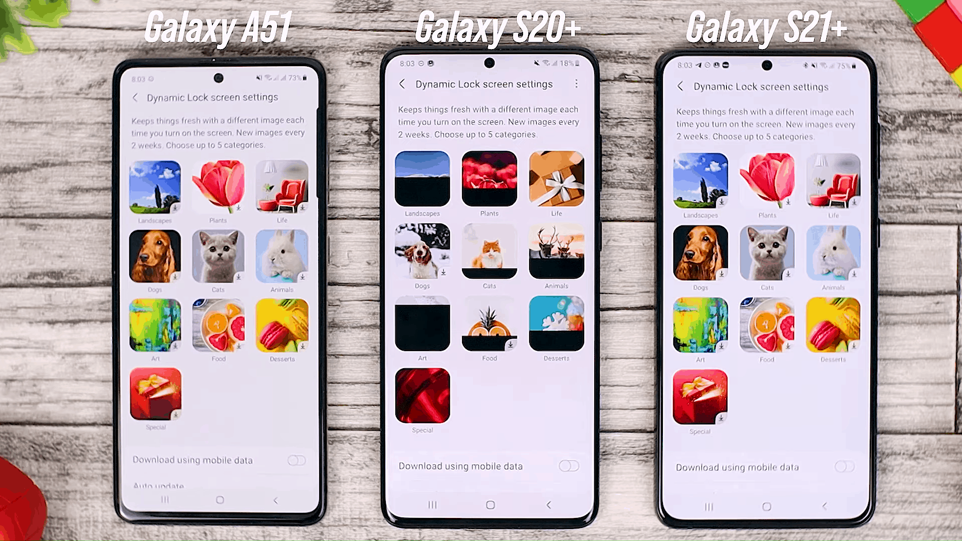 Dynamic Wallpaper Category - Fitur One UI 3.0 di Galaxy A51 dan Perbandingannya dengan Galaxy S20+ dan One UI 3.1 di Galaxy S21+