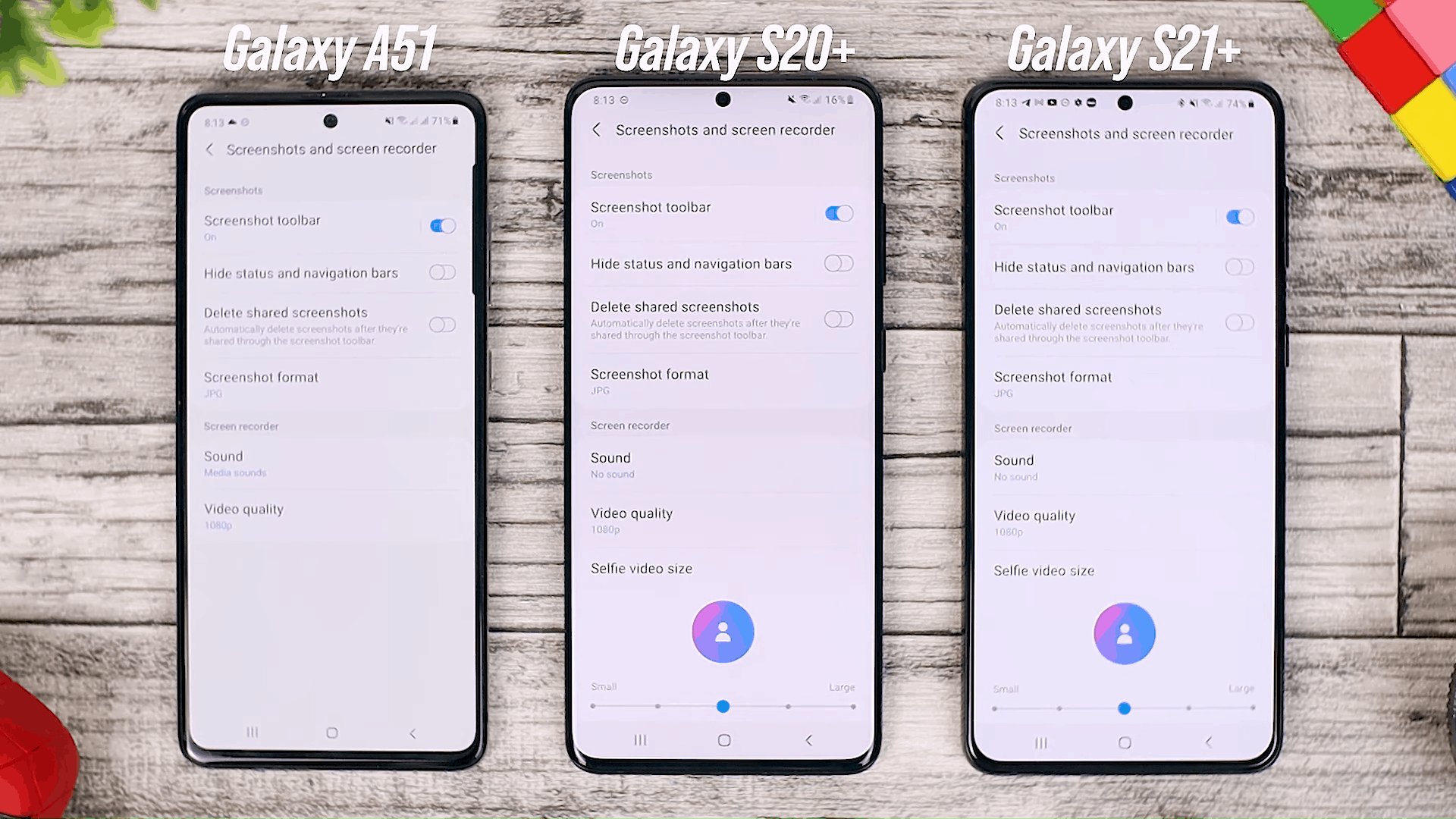 Screen Recorder Option - Fitur One UI 3.0 di Galaxy A51 dan Perbandingannya dengan Galaxy S20+ dan One UI 3.1 di Galaxy S21+