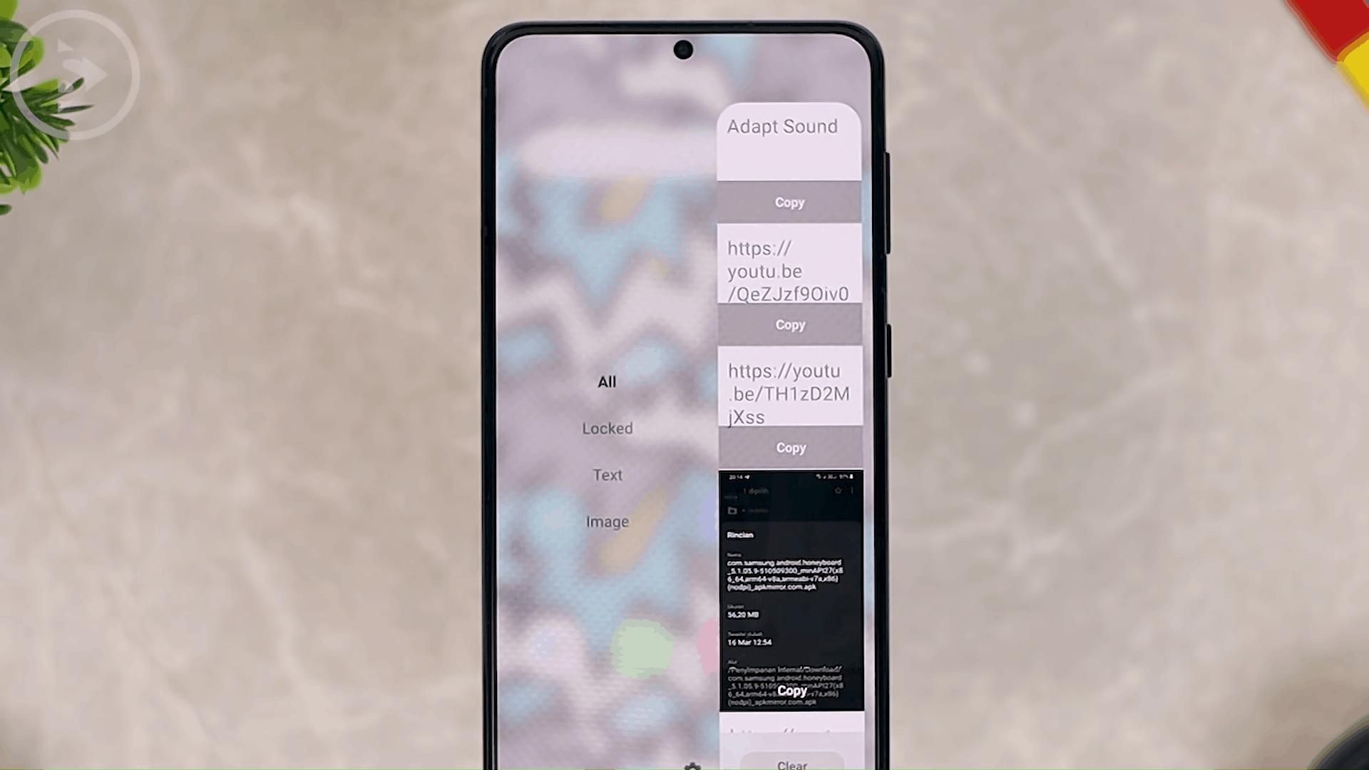 Show Clipboard Shortcuts on Edge Panel - 8 Fitur Terbaru dan KEREN HP Samsung di One UI 3.0 dan One UI 3.1