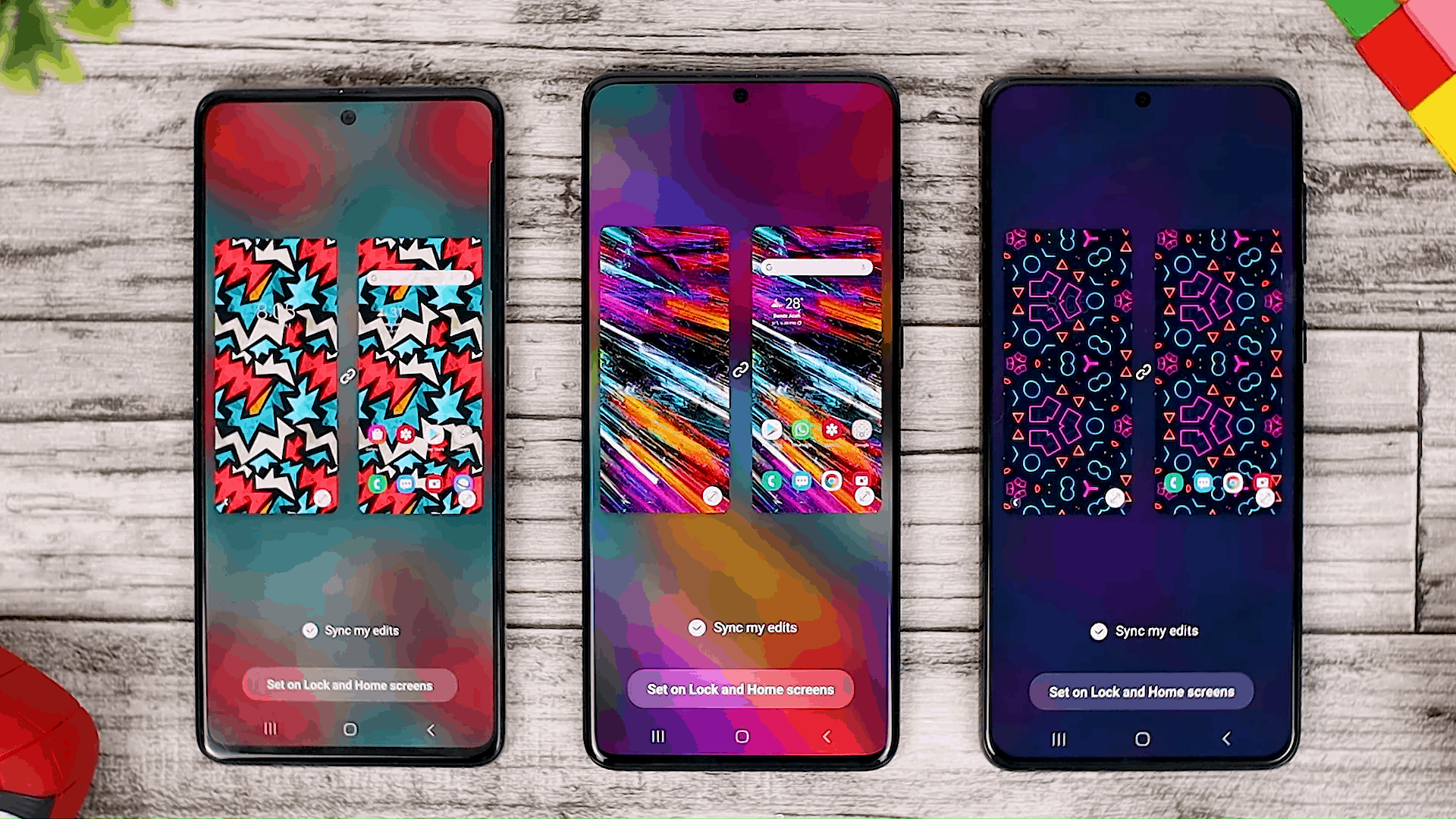 Wallpaper Interactive Preview - Fitur One UI 3.0 di Galaxy A51 dan Perbandingannya dengan Galaxy S20+ dan One UI 3.1 di Galaxy S21+