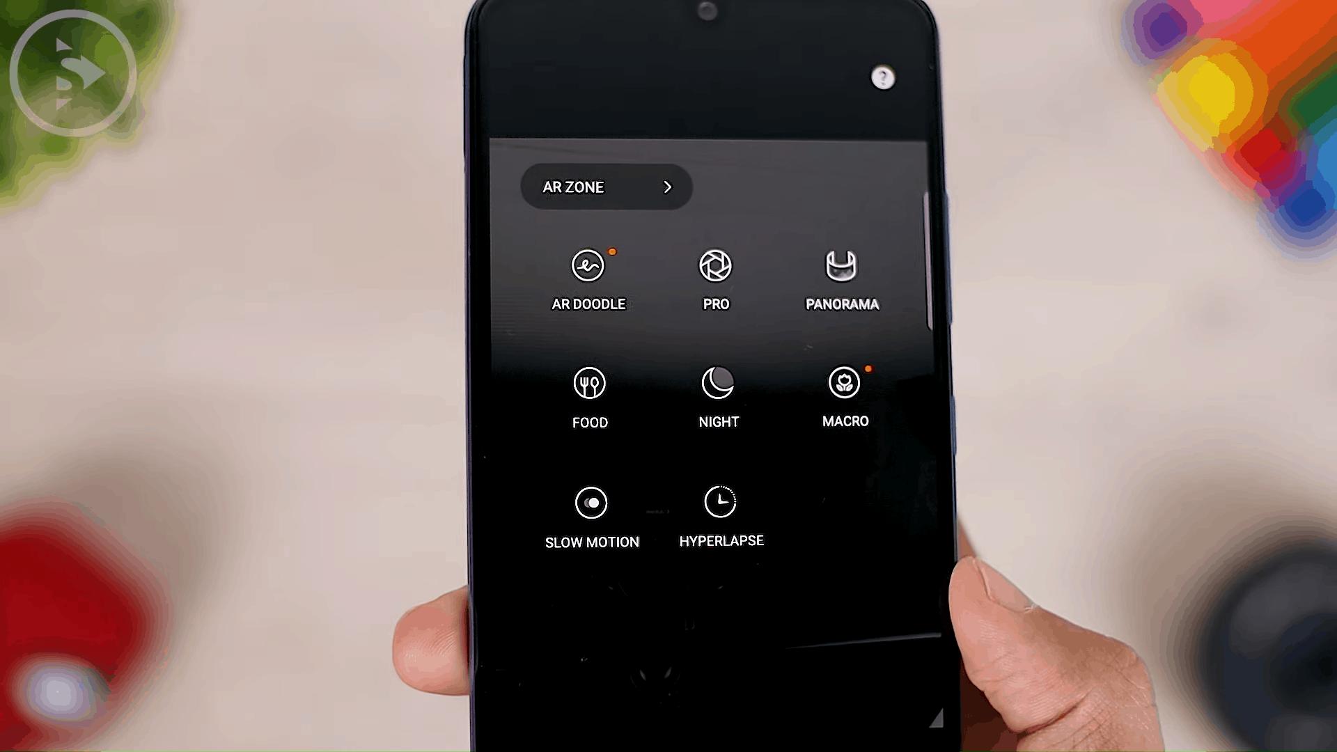 Menu Foto dan Video di Aplikasi Kamera Galaxy A32 - HP Samsung Layar AMOLED 90Hz, Baterai 5000mAH, Kamera 64MP dan Harga 3 Jutaan