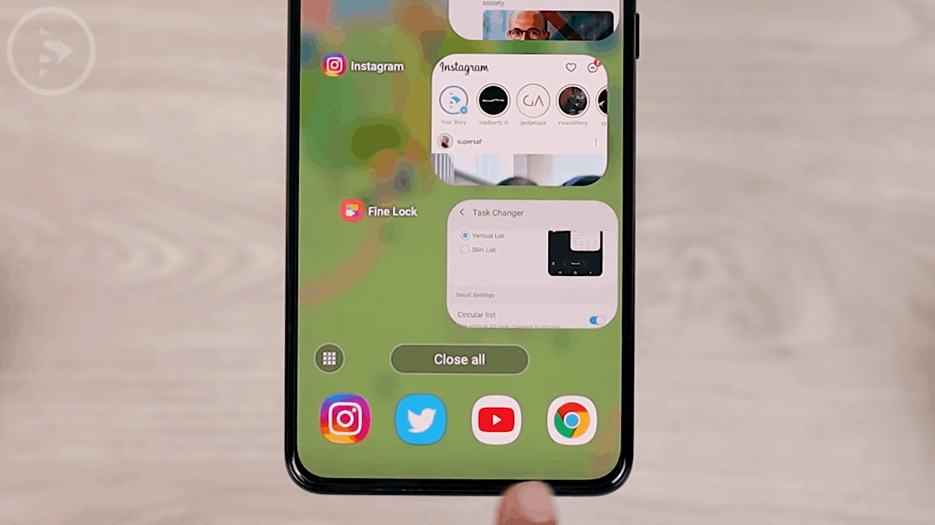 Option to Activate Recommended Apps on Task Changer - 8 Fitur Keren di Update Good Lock Terbaru April 2021